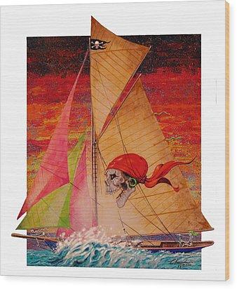 Pirate Passage Wood Print by David  Chapple