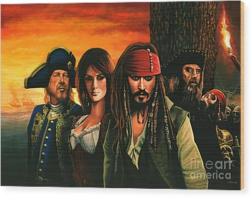 Pirates Of The Caribbean  Wood Print by Paul Meijering