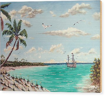 Pirates On Pavilion Key Wood Print by Riley Geddings