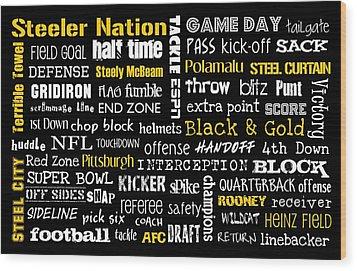 Pittsburgh Steelers Wood Print by Jaime Friedman