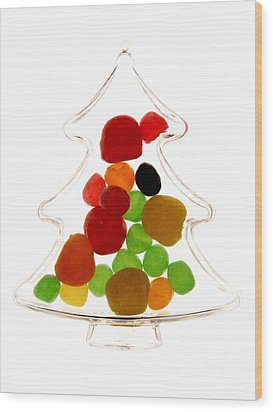 Plastic Christmas Tree Containing Sweet Wood Print by Bernard Jaubert
