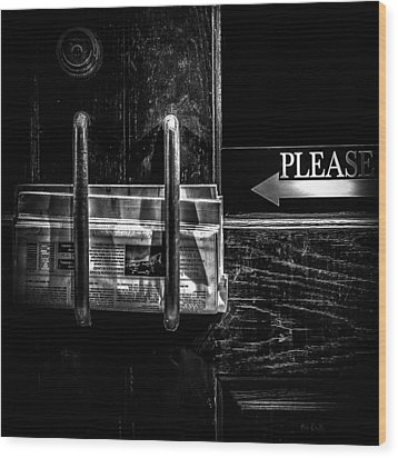 Please Wood Print by Bob Orsillo