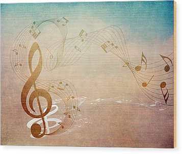 Please Dont Stop The Music Wood Print by Angelina Vick