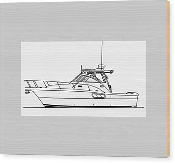 Pocket Yacht Profile Wood Print by Jack Pumphrey