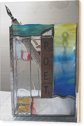 Poet Windowsill Box Wood Print by Karin Thue
