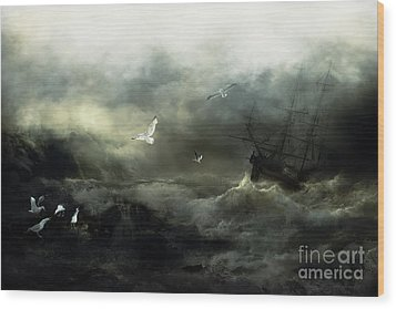 Point Danger Wood Print by Shanina Conway
