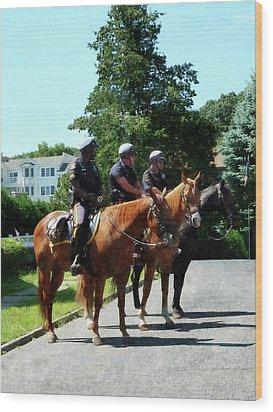 Policeman - Mounted Police Profile Wood Print by Susan Savad