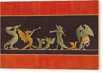 Pompeiian Minstrels Wood Print by Leonard Filgate