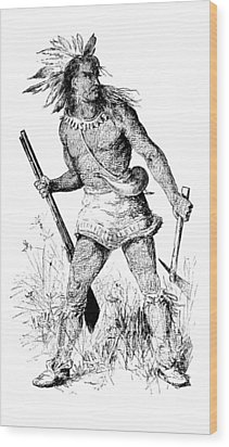 Wood Print featuring the photograph Pontiac, Odawa War Chief by British Library