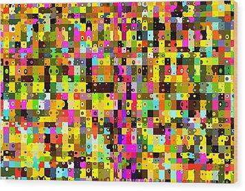 Pop Colors 17 Wood Print by Craig Gordon