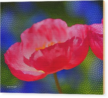 Poppy Series - Touch Wood Print by Moon Stumpp