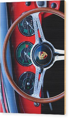 Porsche Custom Iphone Case 2 Wood Print by Jill Reger