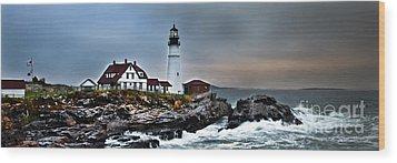 Portland Head Lighthouse 1 Wood Print by Glenn Gordon
