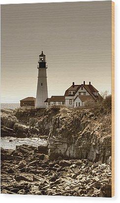 Portland Head Lighthouse Wood Print by Joann Vitali