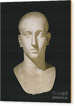 Portrait Bust Of Emperor Severus Alexander Wood Print by Anonymous