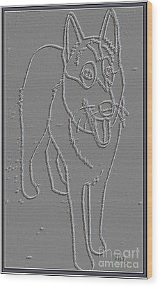 Portrait Of A Friend Poaf00000001 Wood Print by Pemaro