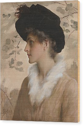 Portrait Of A Lady 1888 Wood Print by George Henry Boughton