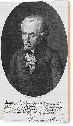 Portrait Of Emmanuel Kant  Wood Print by German School