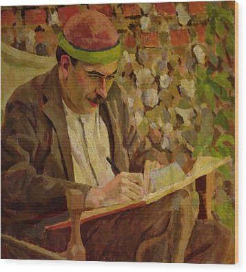 Portrait Of John Maynard Keynes Wood Print by Roger Eliot Fry