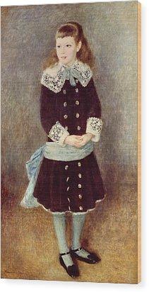 Portrait Of Martha Berard Wood Print by Pierre-Auguste Renoir