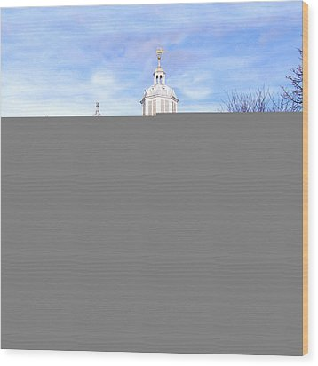 Portsmouth Cathedral At Springtime Wood Print by Terri Waters