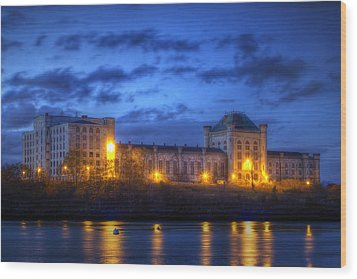 Portsmouth Naval Prison Wood Print by Eric Gendron