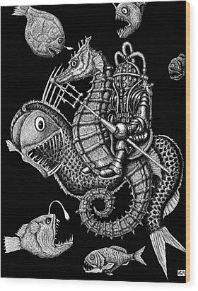 Poseidon Wood Print by Vitaliy Gonikman