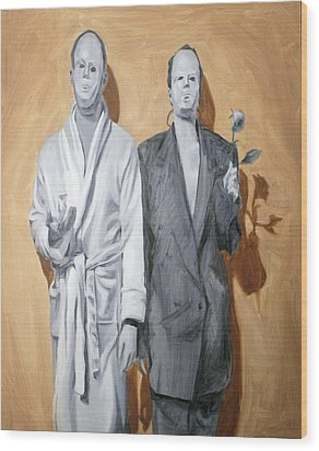 Post Modern Intimacy I Wood Print by Alison Schmidt Carson