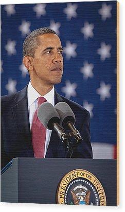 Obama Wood Print by Joshua Berman