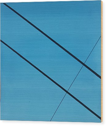 Power Lines 07 Wood Print by Ronda Stephens