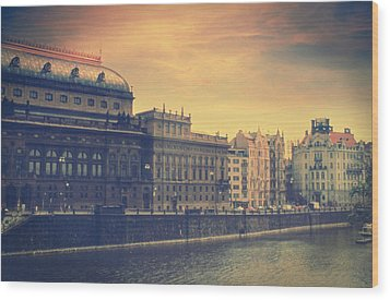 Prague Days Wood Print by Taylan Soyturk