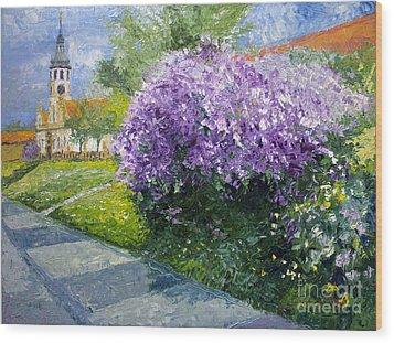 Prague Spring Loreta Lilacs Wood Print by Yuriy Shevchuk