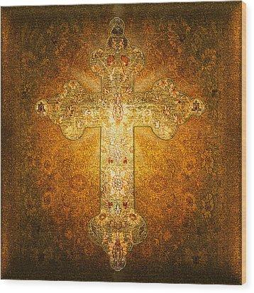 Precious Holy Cross Wood Print by Li   van Saathoff