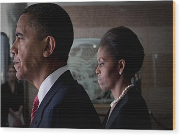 President And Mrs Obama Wood Print by Mountain Dreams