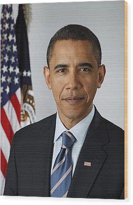 President Barack Obama Wood Print by Pete Souza