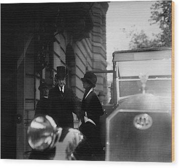 President Calvin Coolidge Front Left Wood Print by Everett