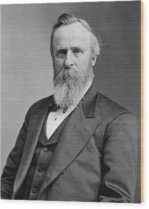 President Rutherford Hayes Wood Print by War Is Hell Store