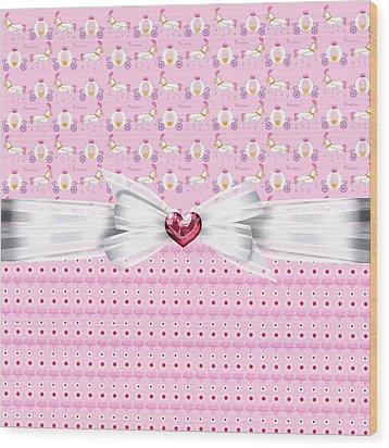 Pretty Pink Princess Wood Print by Debra  Miller