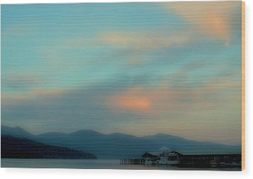 Priest Lake At Dusk II Wood Print by David Patterson