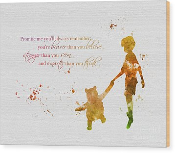 Promise Me You'll Always Remember Wood Print by Rebecca Jenkins