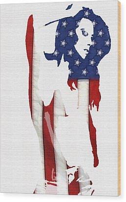 Proud Girl Wood Print by Steve K