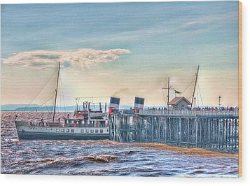 Ps Waverley At Penarth Pier Wood Print by Steve Purnell