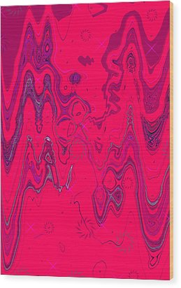 Psychedelic Wood Print by DigiArt Diaries by Vicky B Fuller