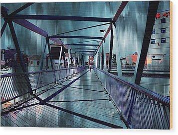 Puente De La Trinidad 1. Malaga Bridges. Spain Wood Print by Jenny Rainbow