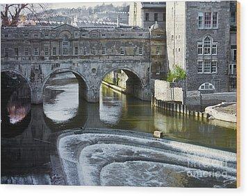 Pulleney Bridge Wood Print by Bob Phillips