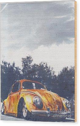 Pumkin Pie Wood Print by Sharon Poulton