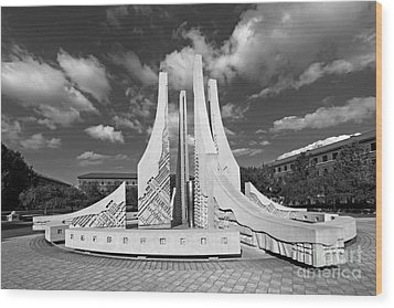 Purdue University Engineering Fountain Wood Print by University Icons