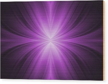 Purple Abstract Background Wood Print by Somkiet Chanumporn