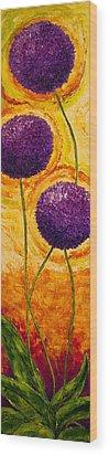Purple Allium Flowers Wood Print by Paris Wyatt Llanso