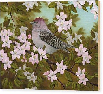 Purple Finch Wood Print by Rick Bainbridge